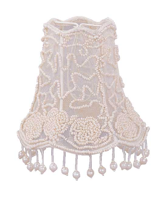 Pearl Beaded Shade with Dangling Pearls 2-SH