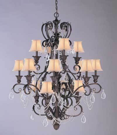 Dark Rust Chandelier 6710-DR